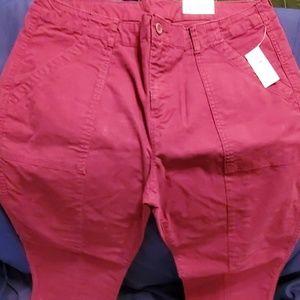 Old navy big pockets no hem pants size 14 nwts